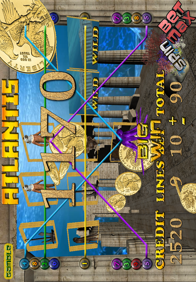 Screenshot ATLANTIS 3D SLOT MACHINE